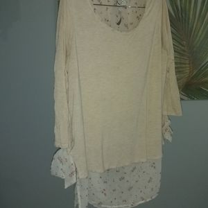 Lc by Lauren Conrad long sleeve shirt w/side ties